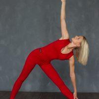 Комбинезон для йоги YSF-01 красный